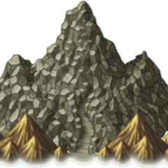 Mount Ordeals on the overworld (PSP).