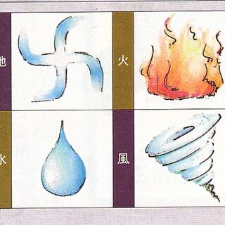 Four out of the eight elemental icons.
