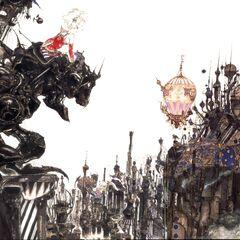 Рисунок Ёситака Амано на обложке коробки с Final Fantasy VI - Терра в Бронекостюме Магитек.