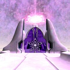The crystalline field that bars entry into the Celestial Capital.