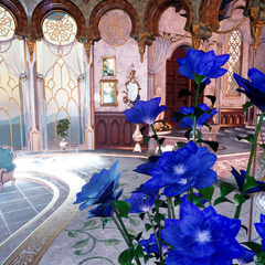 Lunafreya's room in Fenestala Manor.