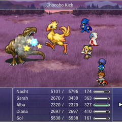 Chocobo Kick.