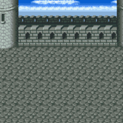 Battle background (Roof and front gate) (SNES).