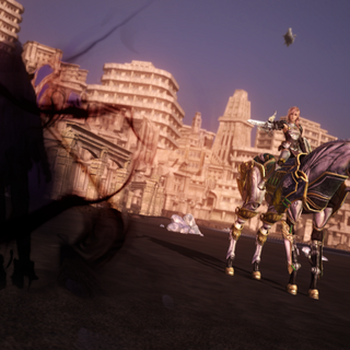 Chaos-Yeul confronta Lightning em Valhalla.