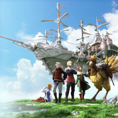Artwork of the party for the PSP edition.