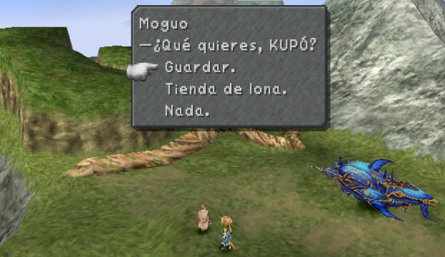 FF9 Save. Moguo On The World Map.
