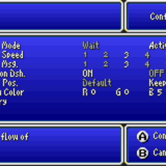Config in the GBA version.
