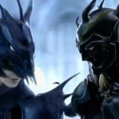 Сражение Каина и Сесила в опенинге в версии для DS.
