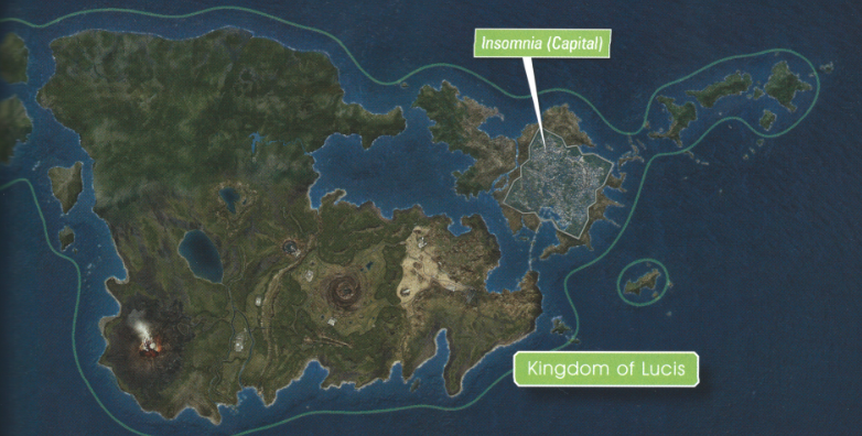 Final Fantasy Xv World Map Lucis | Final Fantasy Wiki | Fandom