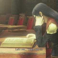 Queen studying.