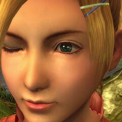 Rikku's distinctive <a href=