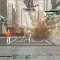 Vajra destroys a truck.