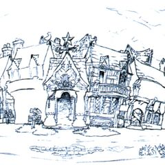 Concept art of the tavern.