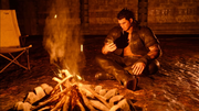 Camping in Steyliff Menace Dungeon in FFXV