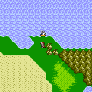 Tokkul on the World Map (NES).