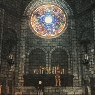 Zeltennia Chapel in a cutscene from <i>War of the Lions</i>.