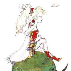 Рисунок Терры в стиле чиби работы Ёситаки Амано.