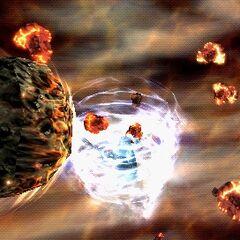 Twin Meteor in <i>Dissidia 012 Final Fantasy</i>.