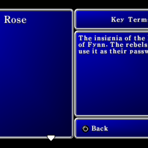 Key Terms menu (PSP).