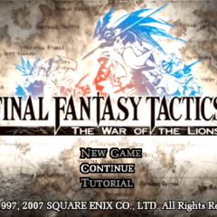 <i>War of the Lions</i> Main Menu.