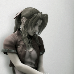 CG render of Aerith for the <i>Compilation</i>.