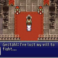 Emperor Gestahl surrendering.