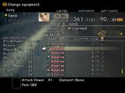 FFXII NPC's Weapons in Menu