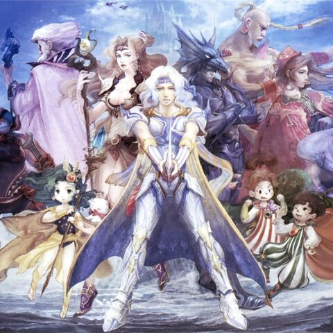 Cast of <i>Final Fantasy IV</i>.