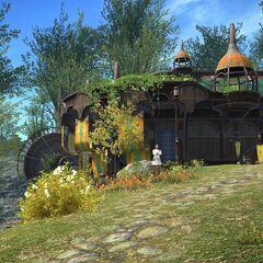 A Guilda dos Aventureiros em Gridania.