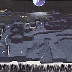 <i>Лунный Кит</i> as seen in <i>Dissidia's</i> Lunar Subterrane concept art.