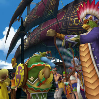 The musicians in Luca in <i>Final Fantasy X</i>.
