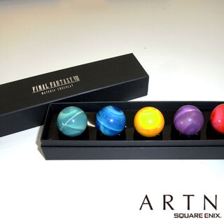 Materia chocolate set, being sold in Square Enix's cafe Artnia.