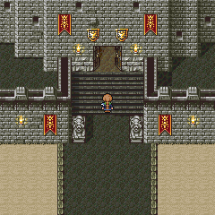 The entrance to the Tower of Trials (WiiWare).