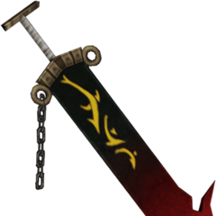 Jecht's sword in his original alt outfit.