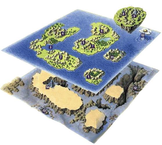 Image ffliii world map artworkg final fantasy wiki fandom ffliii world map artworkg gumiabroncs Gallery