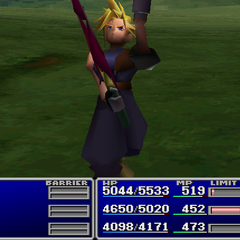 Cloud using an item on an ally.
