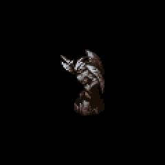 Demon statue.
