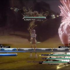 Yomi in battle.