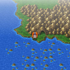 Cave of Eblan on the world map (PSP).