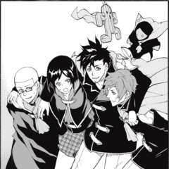 Guren with his Four Champions friends.