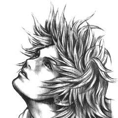 Sketch of Tidusby Tetsuya Nomura.