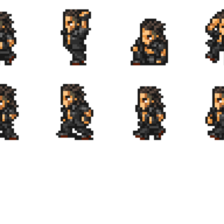 Set of Gladiolus' sprites.
