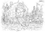 Lindblum Festival of the Hunt Scene FF9 Art 3