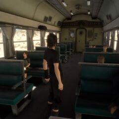 Ноктис в вагоне.