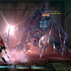 Бегемот в бою в <i>Final Fantasy Type-0 HD</i>.