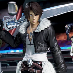 The team of Squall, Firion, and Lightning.