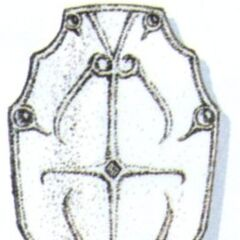 Official art of Mythril Shield from <i>Final Fantasy VI</i>.