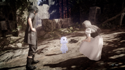 Sarah and Noctis meet a Hiso Alien in FFXV x Terra Wars collab