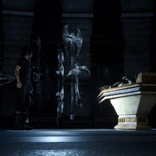 Noctis retrieves the royal arm.