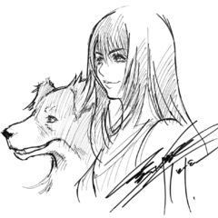 Sketch for the reveal of Rinoa.